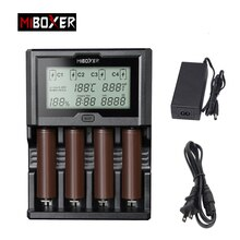 Miboxer 4 слота 3A/Лот ЖК-экран зарядное устройство для li-ion/Ni-MH/Ni-Cd 18650 14500 26650 AAA AA перезаряжаемые батареи