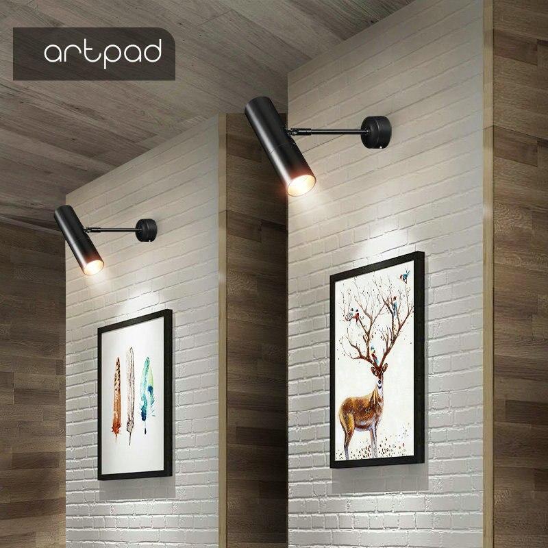 Artpad, accesorio de iluminación de pista moderna, lámpara de 12V, focos LED, tienda de ropa, Fondo de televisión nórdico, iluminación de pared