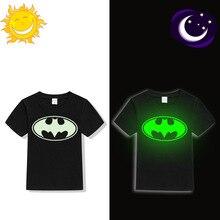 Baby boys Girls summer Luminous Short Sleeves T-Shirts Children New Fashion Cartoon Superman Batman Unicorn KT Cat Tees 1-12 Y