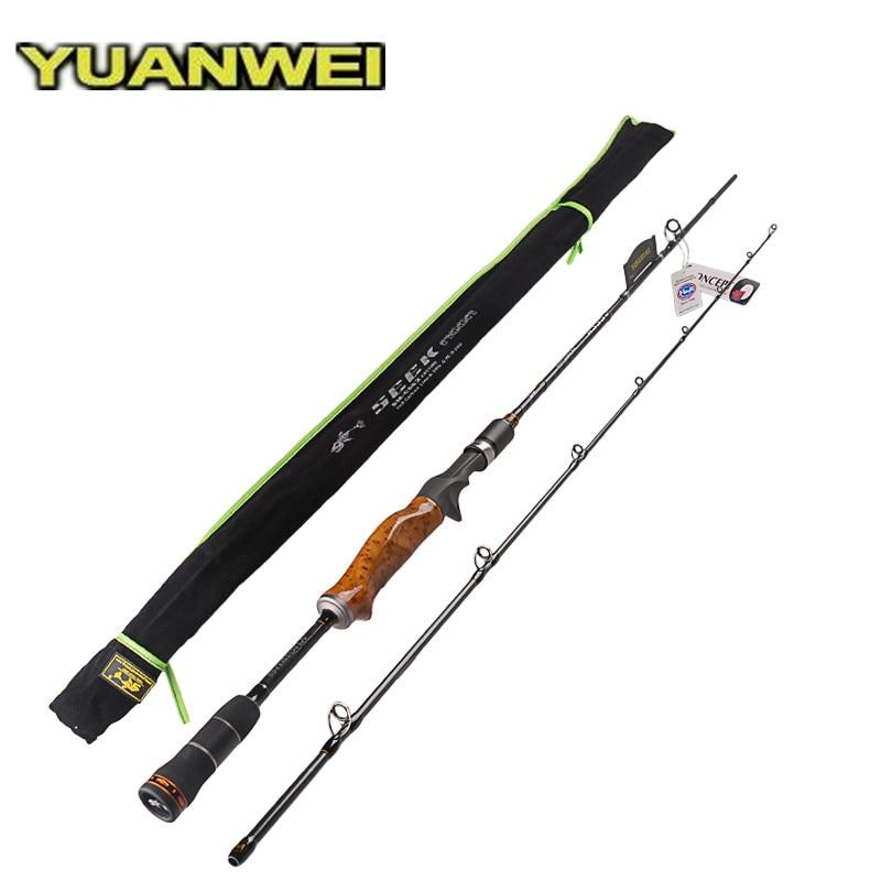 YUANWEI 2Sec 1.98m/2.1m/2.4m IM8 Carbon Casting Fishing Rod Lure Rod Wood Root Handle Vara De Pesca Peche Carpe Olta