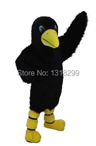 mascot Plush Material Crow mascot costume fancy dress custom fancy costume cosplay theme mascotte carnival costume