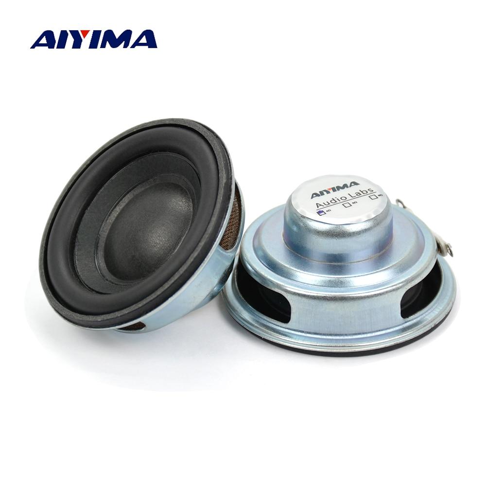 AIYIMA 2 uds Mini altavoces de Audio 50MM 4 Ohm 5W Subwoofer Multimedia portátil altavoz amplificador de sonido altavoz DIY