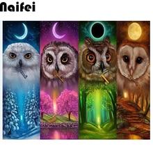 "5D DIY Diamond Painting ""Four seasons owl"" Embroidery Full Square/round Diamond Cross Stitch Rhinestone Mosaic Decor"