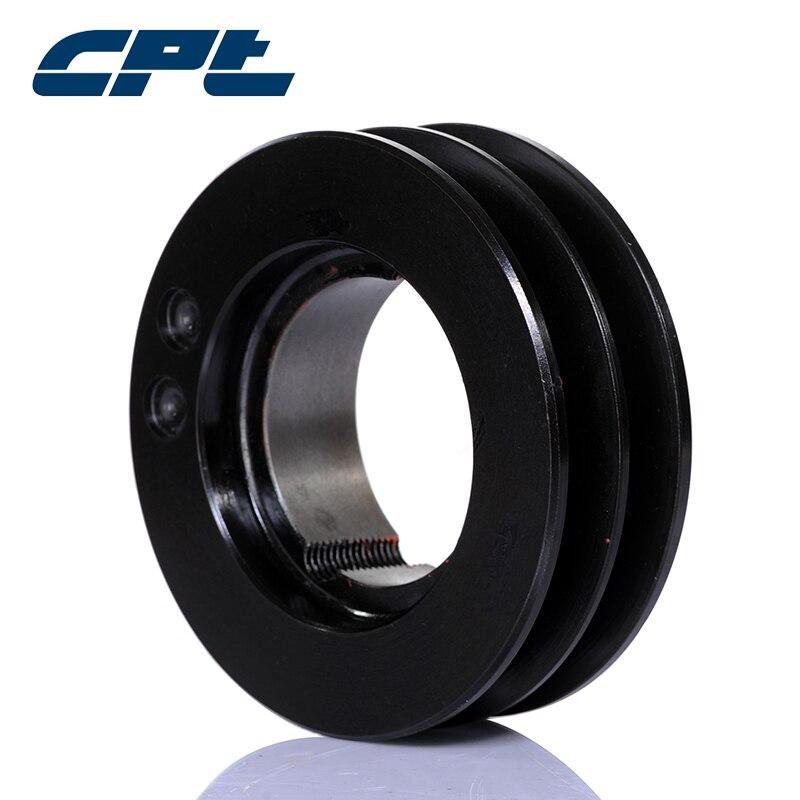 CPT polea de doble ranura estándar v groove, para cinturón SPB, diámetro de paso de 80mm, SPB80-02-1108 de polea equilibrada static