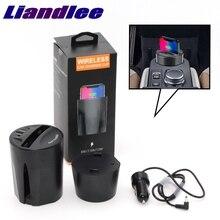 LiandLee Qi-support de téléphone   Voiture, Qi, support de charge de téléphone sans fil de Style verre, chargeur rapide pour Opel Insignia Mokka Meriva Onix