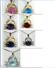 Livraison gratuite @ @ @ mignon bijoux 7 couleur choix crabe collier pendentif