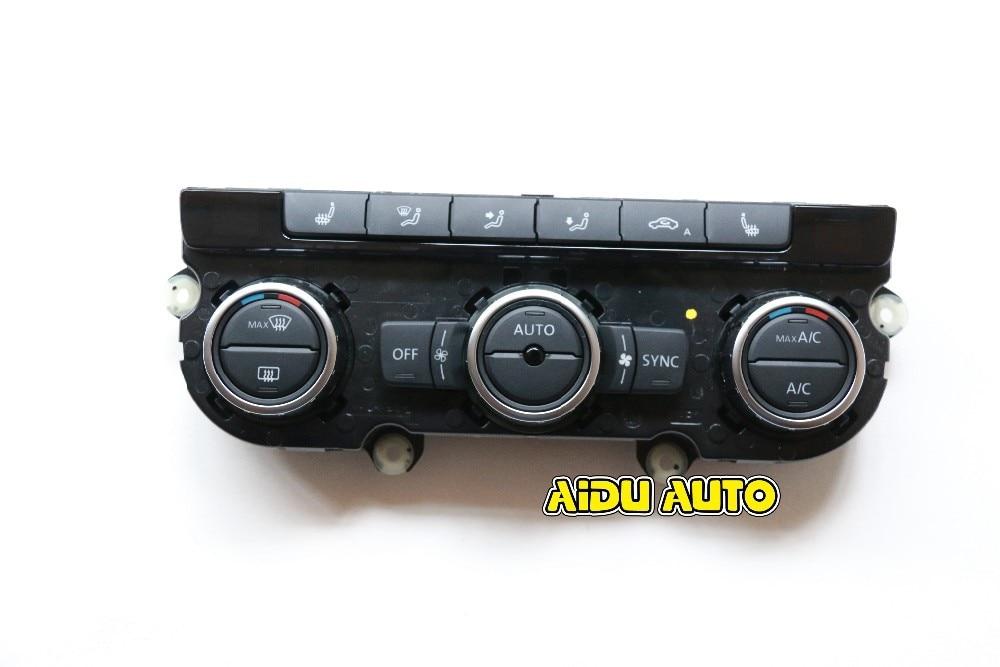 35D 907 044 A Climatronic aire acondicionado interruptor Panel AC asiento calentador para VW Passat B7 CC Tiguan Golf 6 35D907044A