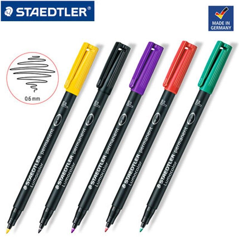 Lote de 2 unidades de rotuladores artísticos STAEDTLER de 318 F y 0,6mm, rotuladores resistentes al agua de secado rápido, con tinta opcional multicolor, accesorios de oficina