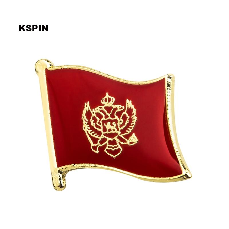 Montenegro National Banner Badges Metal Pin for Clothes Rozet Makara Replica Coins KS-0004