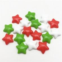 50pcs 16mm Christmas Mixed Stars Flatbacks Embellishments DIY Resin Cabochons Scrapbooking For Phone Xmas Decorations Crafts
