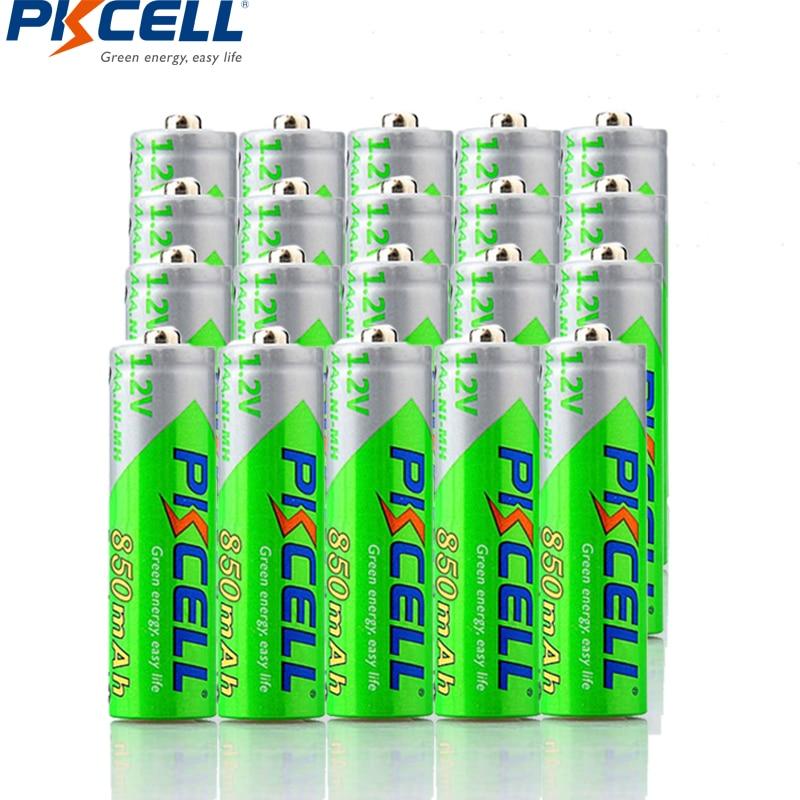 28 piezas PKCELL NIMH AAA 850 mAh 1,2 V batería recargable LSD baterías precargadas para vídeo, juego linterna MP3/MP4 jugador