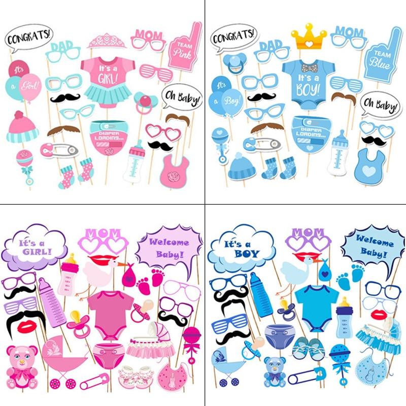 20/30 unids/set accesorios de cabina de fotos es un niño Baby Shower fiesta de cumpleaños decoración 1 er cumpleaños de bebé recién nacido photobooth apoyos