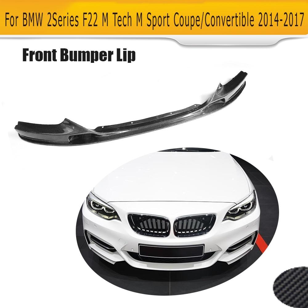Alerón delantero de fibra de carbono para BMW F22 M, Serie 2, Coupe deportivo con sólo 14-17 Convertible, 220i 230i 235i negro FRP