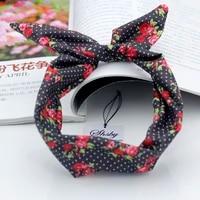 shsby watch accessories ladies flower cloth watch bands women wrist bands for clock children headwear girls hair bands mixed 4
