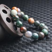 Brazaletes con piedras naturales streche de 6-8-10-12mm, pulsera elástica para hombres y mujeres, joyería de moda, abalorios creados