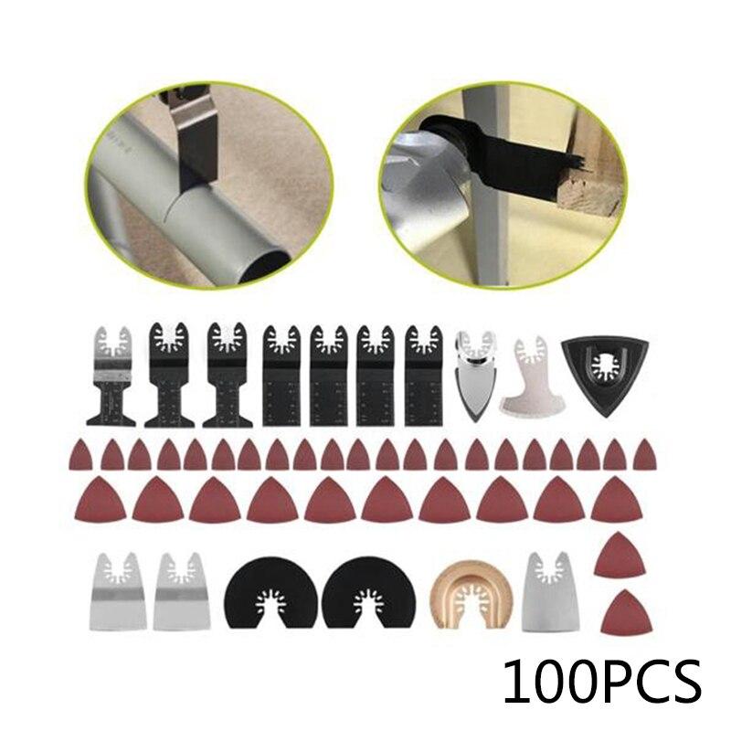 100 шт. Осциллирующий мульти инструмент пилы аксессуары набор для Bosch Fein Makita