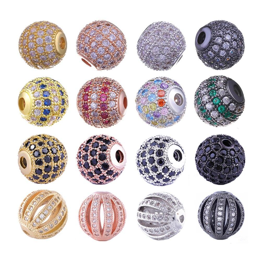 aliexpress.com - Juya DIY Jewelry Metal Beads Wholesale Micro Pave Zircon 10mm Starburst Round Ball Beads For Women Men Beadwork Jewelry Making