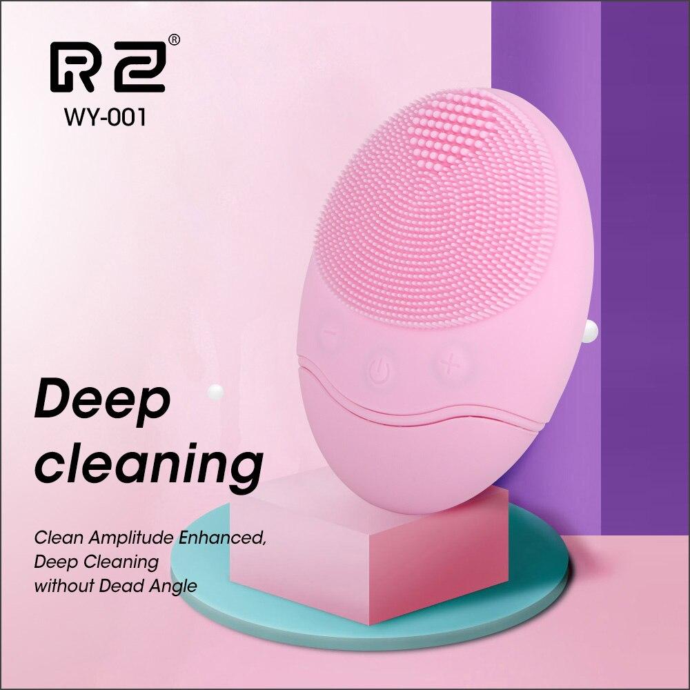 Cepillo de limpieza Facial AOPHIA cepillo de limpieza de belleza de silicona Mini masaje eléctrico a prueba de agua profunda exfoliante cepillo de limpieza de puntos negros
