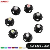 10x t4 t4 2 1210 smd 3528 12v instrument dash lamp neo car led bulb dashboard cluster read light whiteyellowgreenbluered
