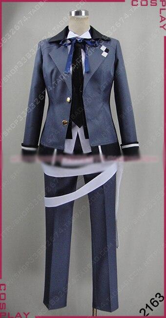 AMANTES DE Diabolik más, sangre Azusa Mukami Cosplay disfraz Halloween uniforme Camisa + chaleco + abrigo + Pantalones + corbata + sombrero