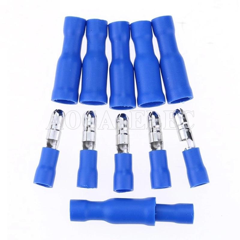 100 Uds azul hembra-varón de bala aislado conector, terminales de crimpado de cableado conector de Cable FRD2-156 FRD2-196 MPD2-156 MPD2-196 caliente