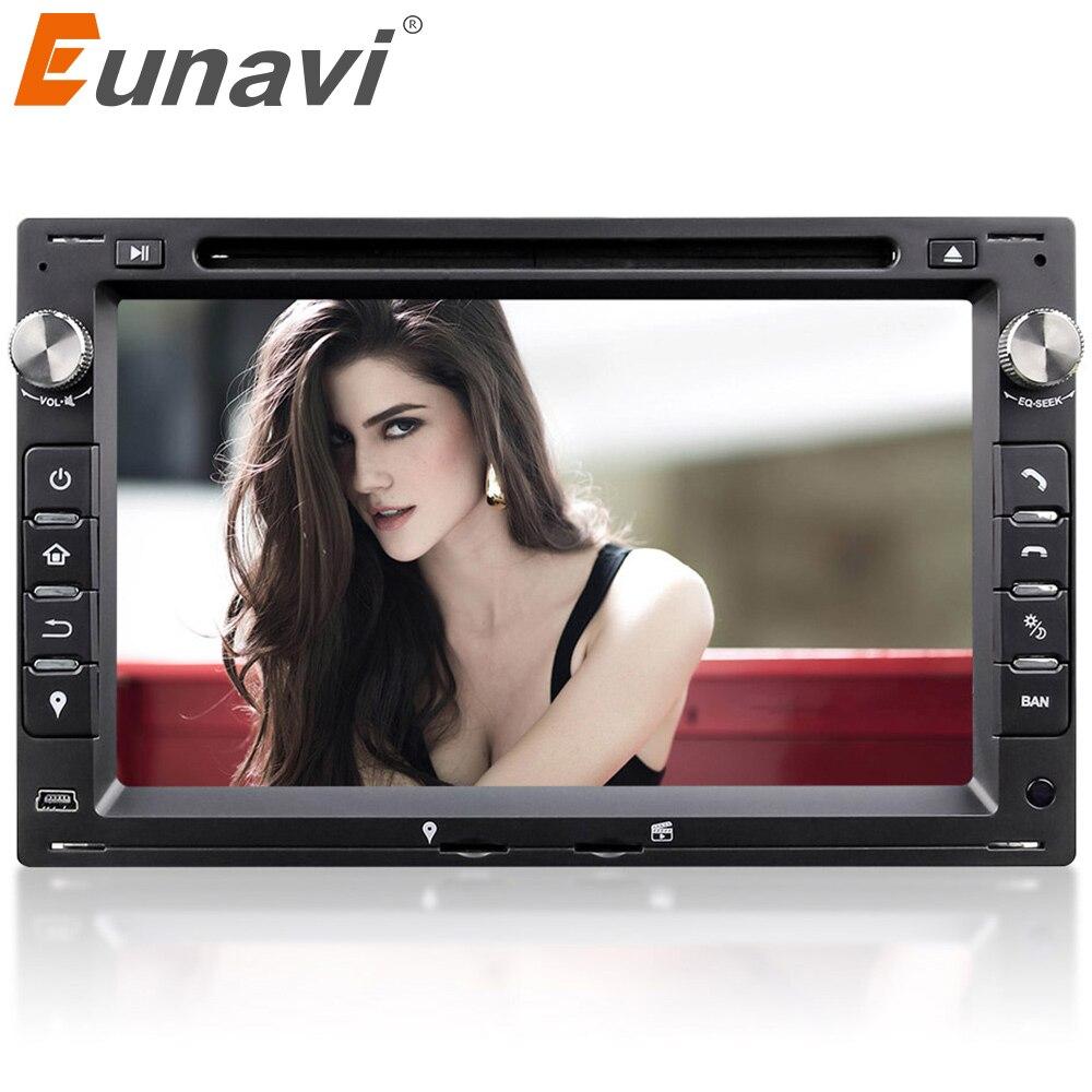 Eunavi 2din reproductor de DVD del coche de navegación GPS para VW transporte T5 PASSAT B5 Golf 4 Polo Bora Jetta Sharan 2004, 2005, 2006, 2007, 2008
