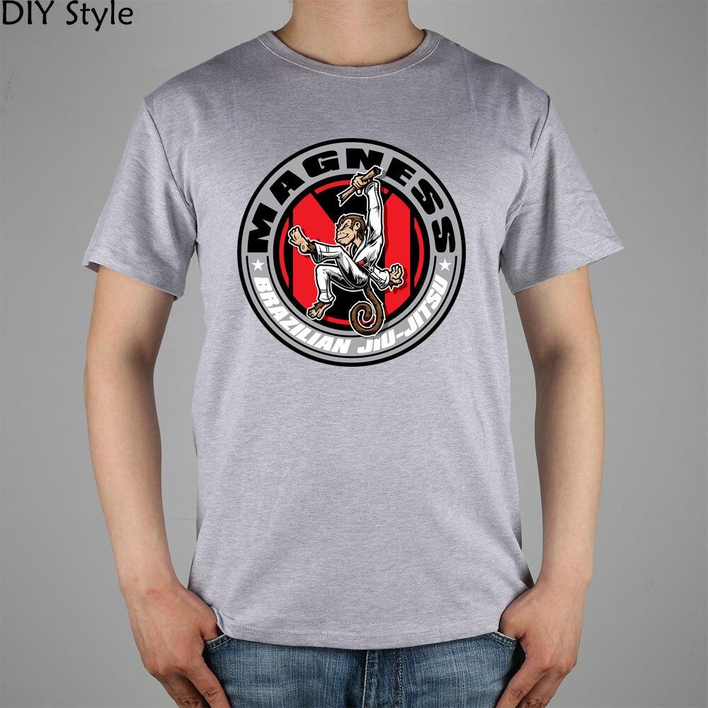 Magness Jiu brasileño camiseta jitsu algodón Lycra top moda marca camiseta Hombres Nuevo