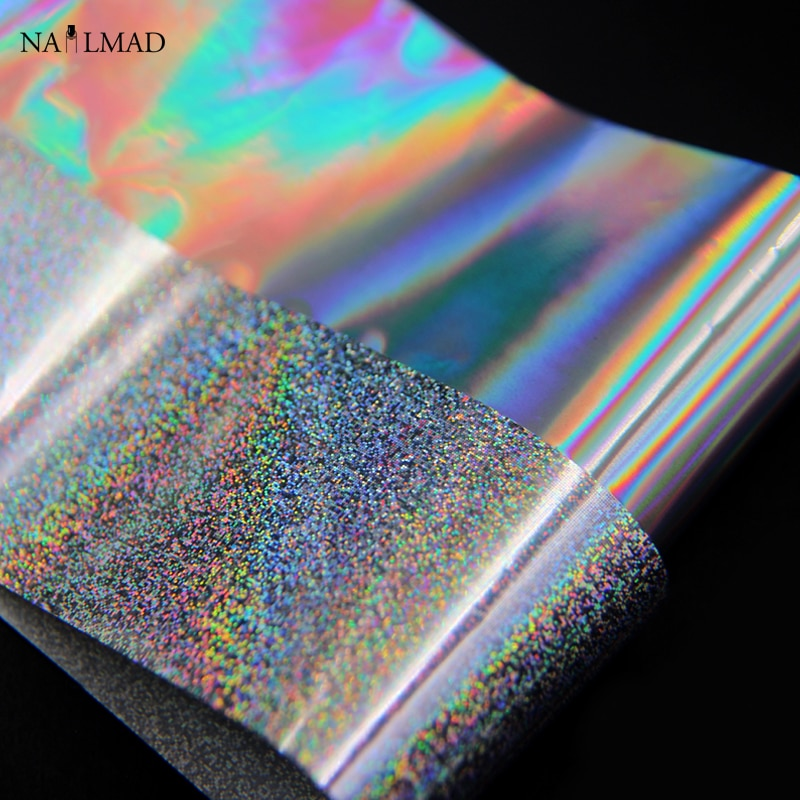 1 roll 4*100CM Holographic Nail Foils Laser Holo Dots  Nail Art Transfer Foil Transfer Sticker