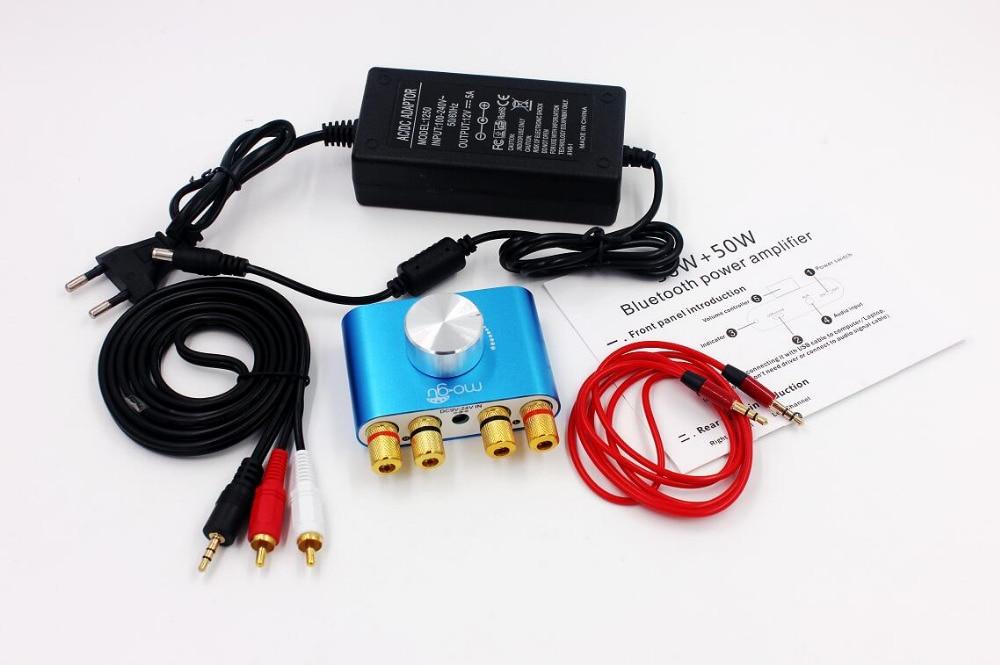 50 w + 50 w áudio f900 mini amplificador bluetooth amplificador de potência estéreo de alta fidelidade amplificador de potência digital com adaptador de energia