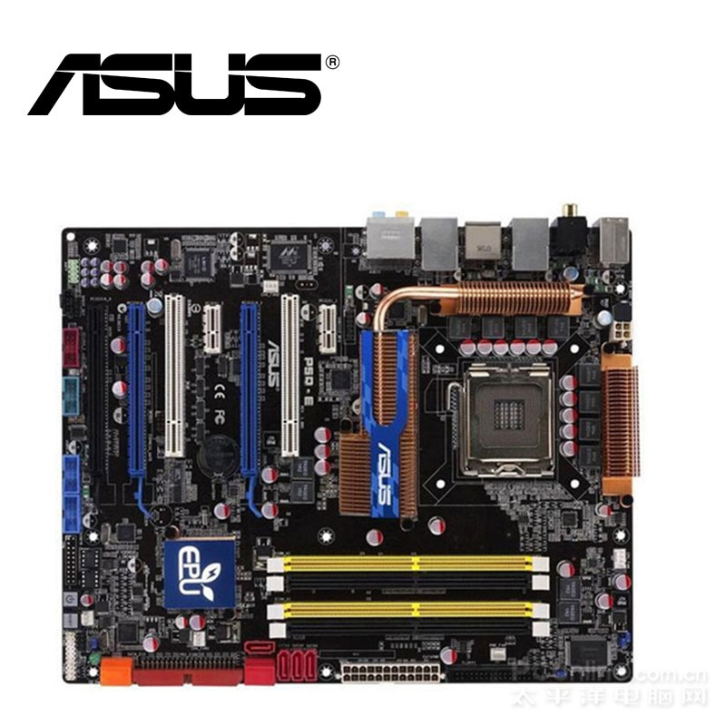 Asus Motherboard Desktop P45 P5Q-E Soquete LGA 775 Para Core Duo Quad DDR2 2 16G UEFI BIOS ATX Originais mainboard utilizados No Sal