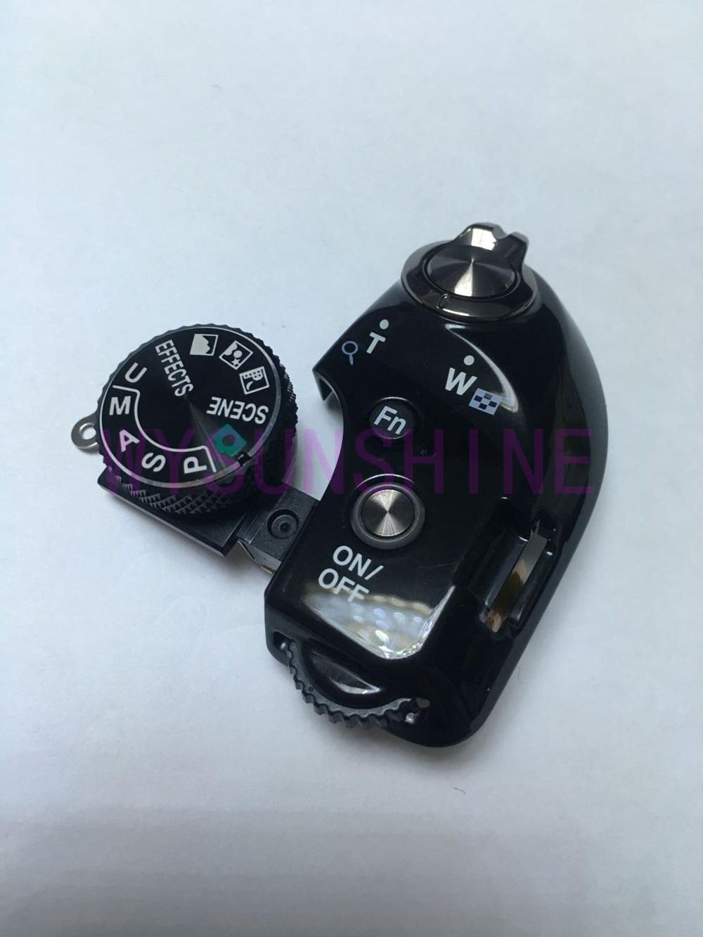 כפתור חיוג הדגם המקורי למעלה כיסוי כוח Swich חלקי תיקון מצלמה כפתור צמצם עבור ניקון P610
