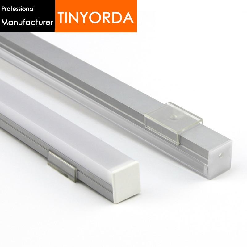 Tinyorda 500Pcs (2M Length) Led Strip Profile Led Channel Profil for 16mm LED Strip Light [Professional Manufacturer]TAP2016
