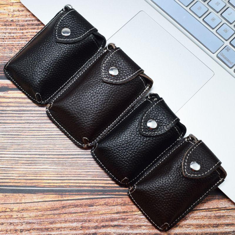 2019 Fashion New Mini Women Men Leather Car Key Bag Keychain Card Case Holder Wallet Multifunction Key Organizer Bag Keyring S/M
