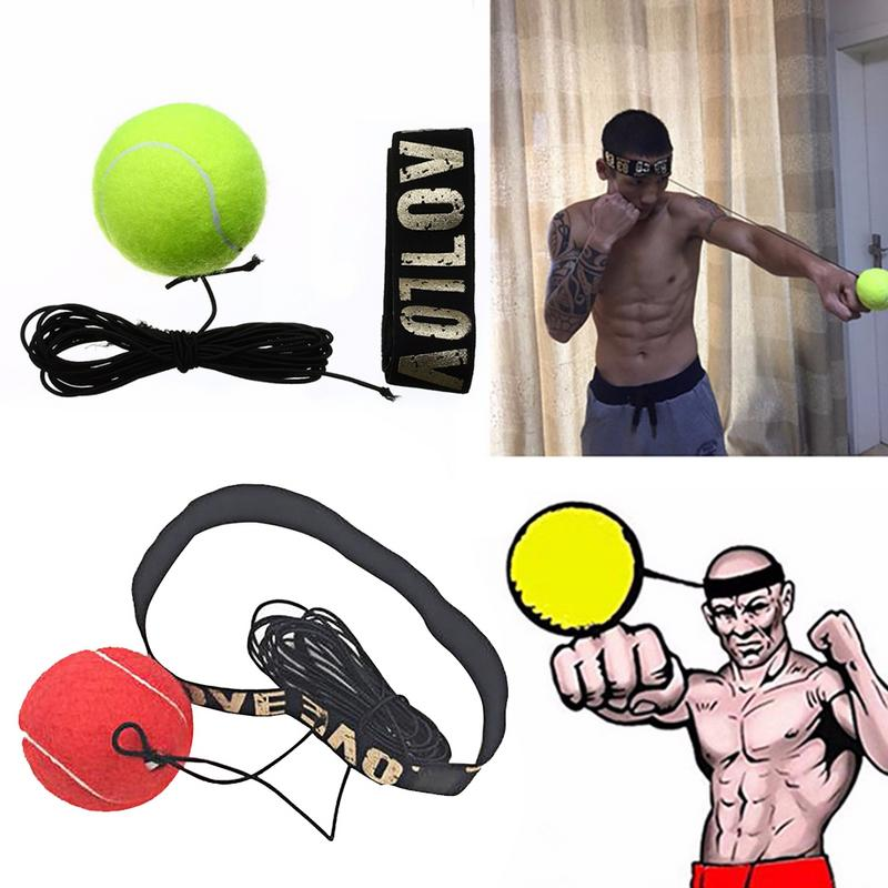 Nova Caixa de Luta Luta Boxe Velocidade da Bola Speedball Velocidade de Reflexo Equipamento do Exercício de Treinamento De Boxe Soco Muay Thai Amarelo/Vermelho