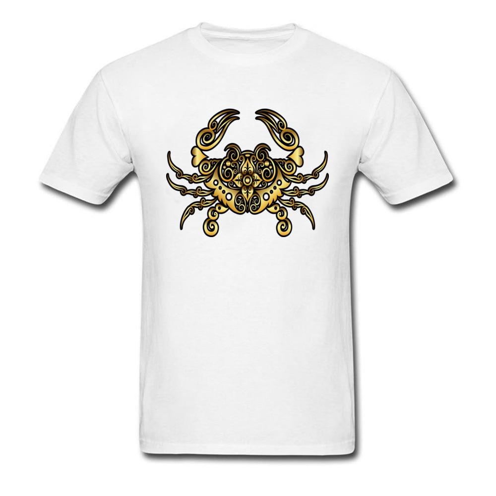 Camiseta Golden Crab personalizada para hombre, 100% de algodón, cuello redondo, camisetas de verano para hombre, camisetas Funky, envío directo