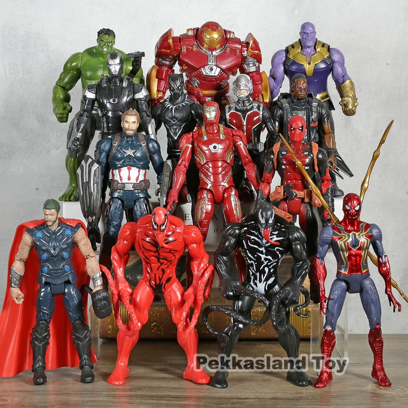 Экшн-фигурка Марвел, Мстители, Venom, Carnage, Человек-паук, танос, Тор, Дэдпул, халкбастер, Железный человек, Черная пантера, подарок