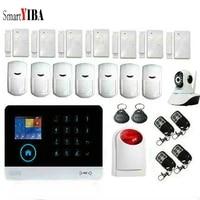 SmartYIBA-Smartphone sans fil Wifi   Smart hote residentiel  alarme 3G  applications  clavier tactile a distance  alarme de maison  GPRS automatique  appels SMS