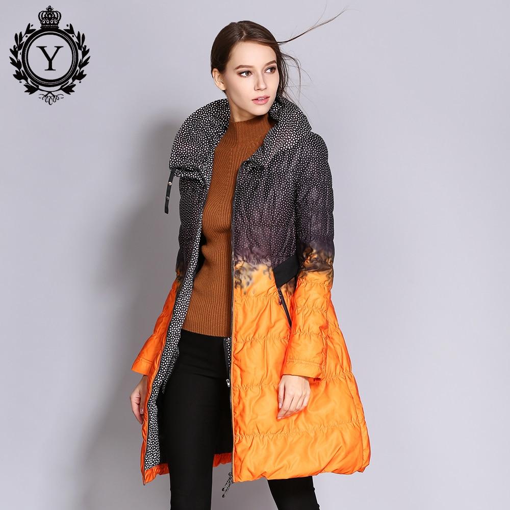¡Venta al por mayor! chaqueta de plumón para mujer COUTUDI, Parkas largas estampadas, Abrigo acolchado de invierno para mujer, prendas de vestir, chaquetas de pato blancas 80%