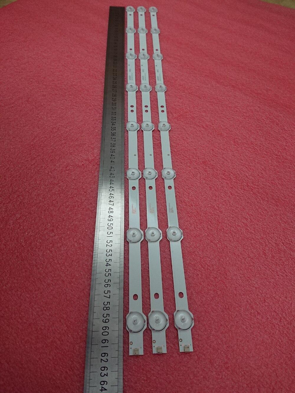 Novo conjunto 5 15 pcs 8LED = 618mm tira retroiluminação LED para LE32D59 32PFL3045 K320WD 4708-K320WD-A2213K01 A4213K01 471R1055 471R1P53