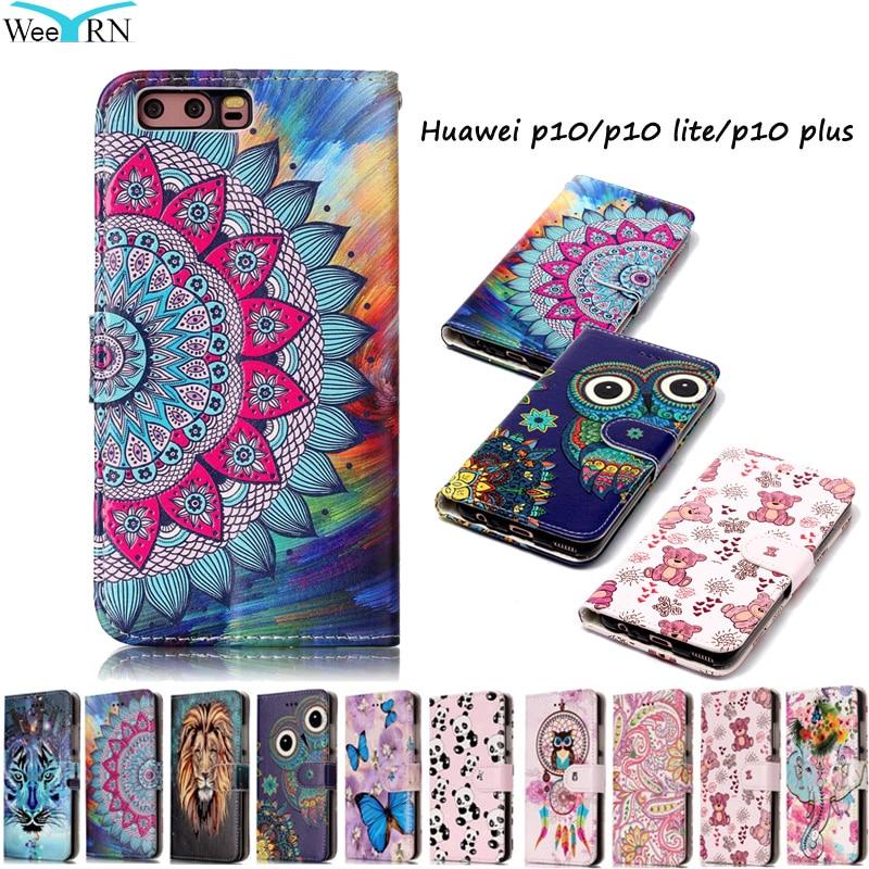 Huawei P10 P10Lite Case Luxury Flip Leather Case Huawei P10 Lite P10 Plus Funda Wallet Card Stand Phone Cover Hawei P 10 P10Plus