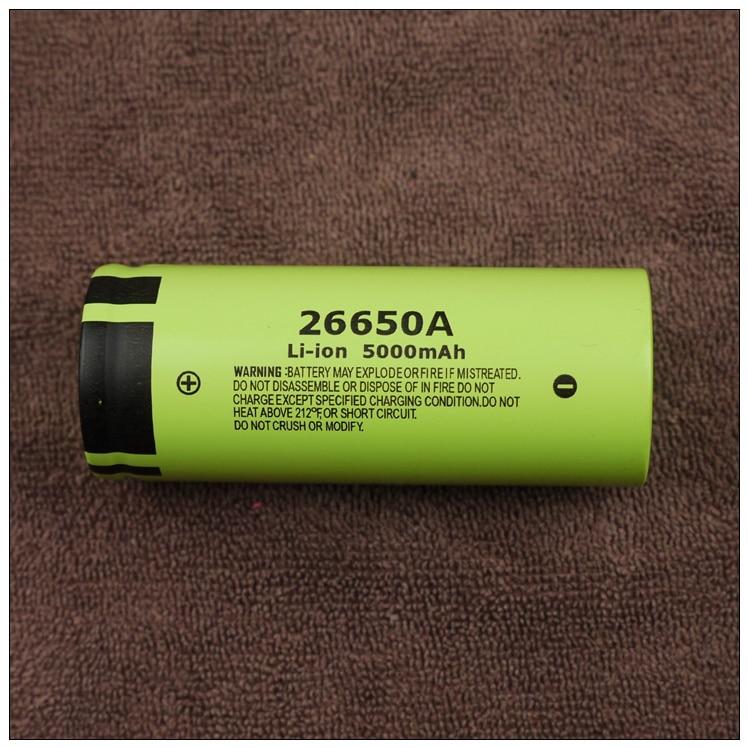 Nouveau authentique Panasonic 26650A 3.7 V 5000 mAh haute capacité 26650 Li-ion batterie Batteries rechargeables