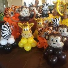 Dschungel tier ballon set geburtstag party dekorationen kinder zoo Safari tier luftballons dschungel party liefert decor