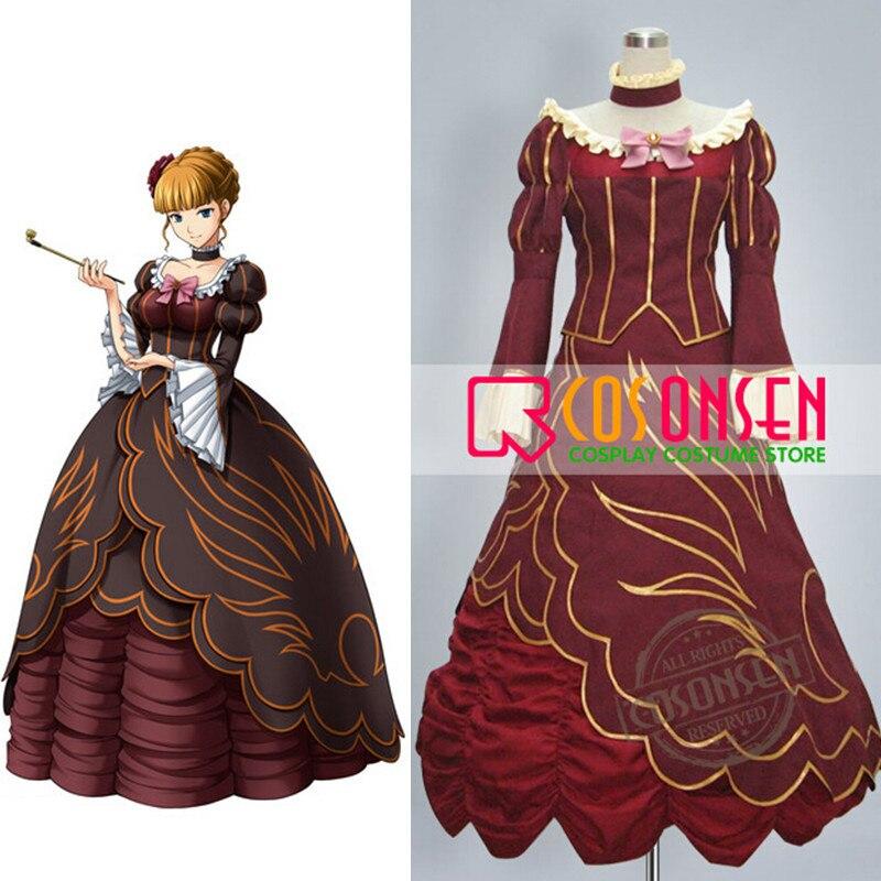 فستان مُصمم حسب الطلب مصنوع حسب الطلب بحجم كبير من كوسسلايونسن أومينيكو نو ناكو كورو ني الذهبي الساحرة بياتريس