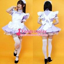 Sissy femme de chambre satin robe verrouillable uniforme cosplay costume sur mesure [G2222]