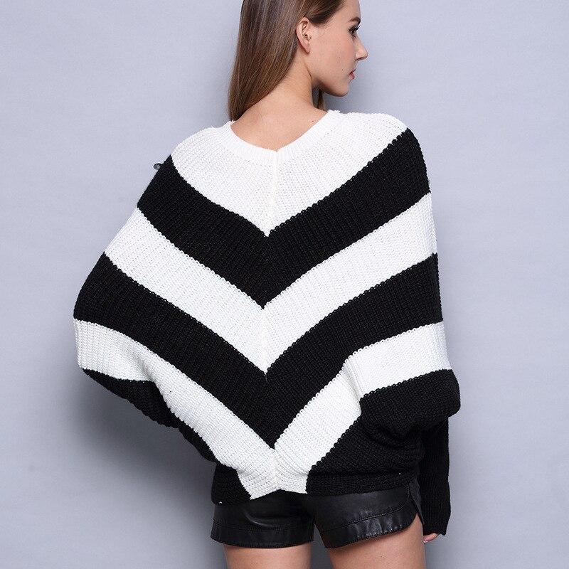 Пуловер, настоящая осенняя одежда, новинка 2019, костюм-платье в полоску с блестками, легкий свитер, Джокер, рубашка «летучая мышь»