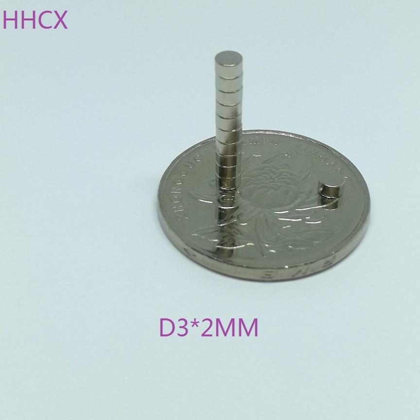 10 unids/lote imán de disco 3*2 N35 disco fuerte mm NdFeB imán de tierras raras 3x2 imanes de neodimio