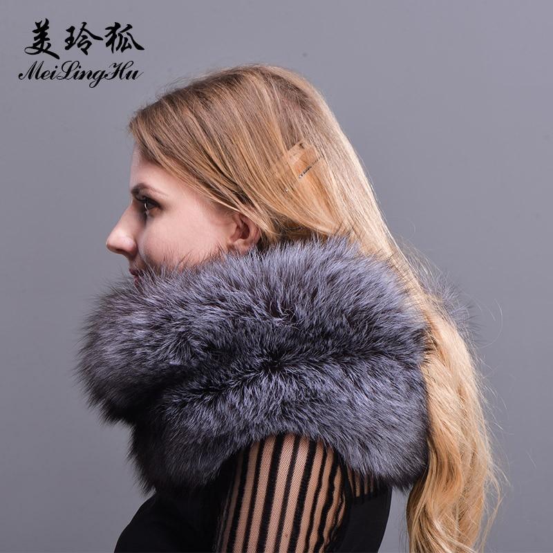 New 2017 Women Fox Fur Collar Multicolor Fashion Shawl Collar Fur Female Fashion Autumn and Winter Warm Solid Scarves