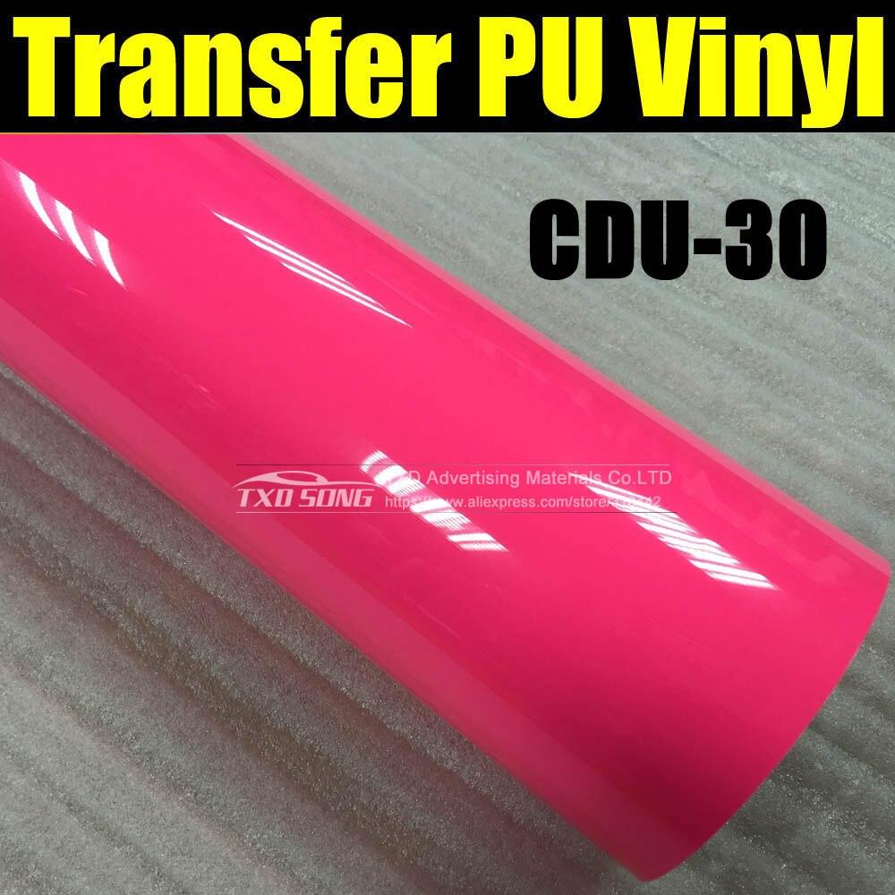 NEON ROZE CDU-30 Kledingstuk PU overdracht warmte film voor cutter plotter gebruik met maat 50*100cm (1 yard)/lot door gratis verzending