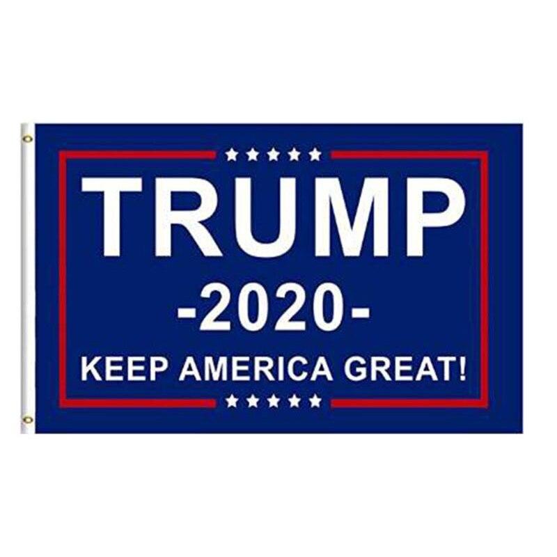 Bandera de Trump 2020 de doble cara impresa, Bandera de Donald Trump, mantener a Estados Unidos, Gran Trump, bandera Estadounidense para el presidente de Estados Unidos, Bandera de 90*150 cm