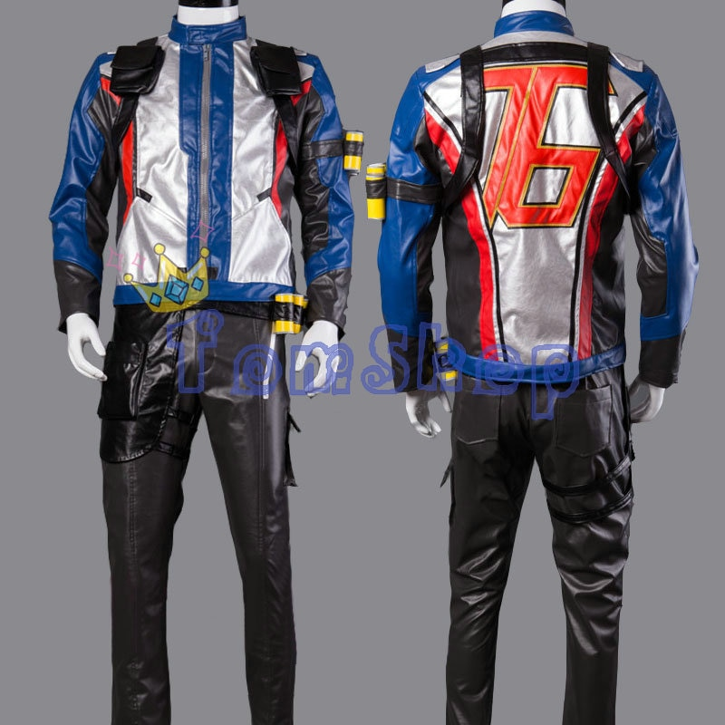 Soldier 76 Jack Morrison Cosplay Costume Full Set Game Hero Uniform Suit Adult Halloween Costumes for Men Custom Made